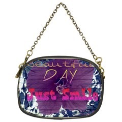 Beautiful Day Just Smile Chain Purse (one Side)