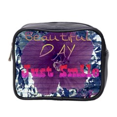 Beautiful Day Just Smile Mini Travel Toiletry Bag (Two Sides)