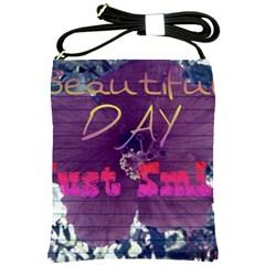 Beautiful Day Just Smile Shoulder Sling Bag