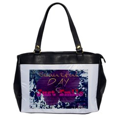 Beautiful Day Just Smile Oversize Office Handbag (one Side)