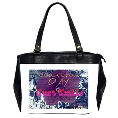 Beautiful Day Just Smile Oversize Office Handbag (two Sides)
