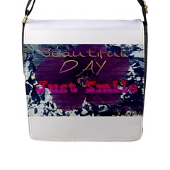 Beautiful Day Just Smile Flap Closure Messenger Bag (Large)