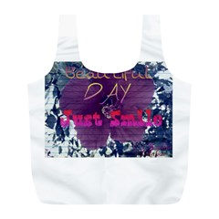 Beautiful Day Just Smile Reusable Bag (l)