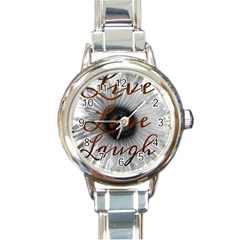 Live love laugh Round Italian Charm Watch