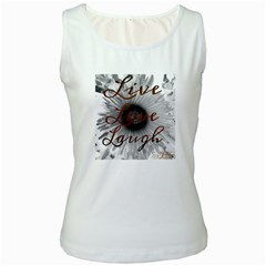 Live Love Laugh Women s Tank Top (white)