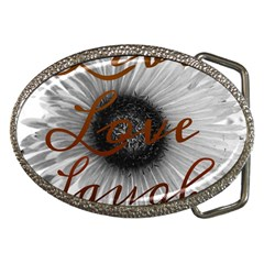 Live Love Laugh Belt Buckle (oval)