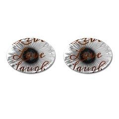 Live love laugh Cufflinks (Oval)