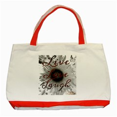 Live love laugh Classic Tote Bag (Red)