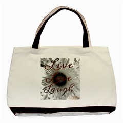 Live love laugh Twin-sided Black Tote Bag