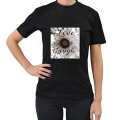Live Love Laugh Women s T Shirt (black)