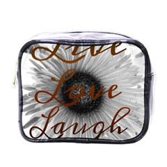 Live Love Laugh Mini Travel Toiletry Bag (one Side)