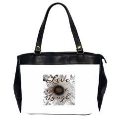Live Love Laugh Oversize Office Handbag (two Sides)