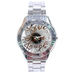 Live love laugh Stainless Steel Watch