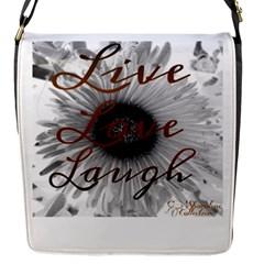Live love laugh Flap Closure Messenger Bag (Small)