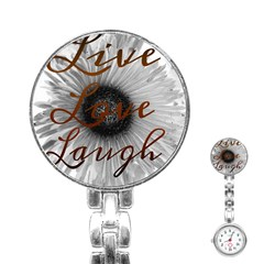Live love laugh Stainless Steel Nurses Watch