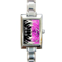 The best is yet to come Rectangular Italian Charm Watch