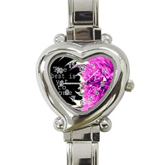 The best is yet to come Heart Italian Charm Watch