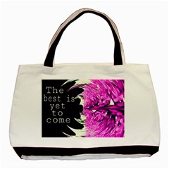 The best is yet to come Twin-sided Black Tote Bag
