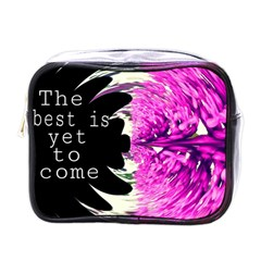 The Best Is Yet To Come Mini Travel Toiletry Bag (one Side)