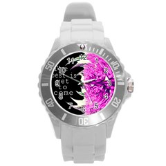 The best is yet to come Plastic Sport Watch (Large)