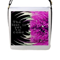 The best is yet to come Flap Closure Messenger Bag (Large)