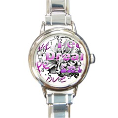 Live Peace Dream Hope Smile Love Round Italian Charm Watch