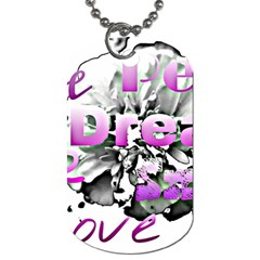 Live Peace Dream Hope Smile Love Dog Tag (One Sided)