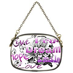 Live Peace Dream Hope Smile Love Chain Purse (one Side)