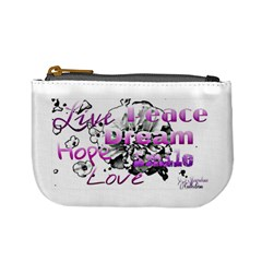 Live Peace Dream Hope Smile Love Coin Change Purse