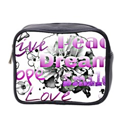 Live Peace Dream Hope Smile Love Mini Travel Toiletry Bag (two Sides)