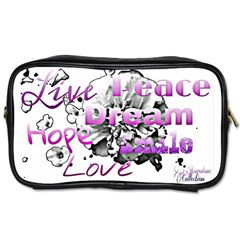 Live Peace Dream Hope Smile Love Travel Toiletry Bag (Two Sides)