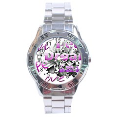 Live Peace Dream Hope Smile Love Stainless Steel Watch