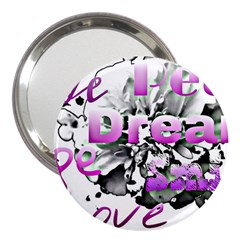 Live Peace Dream Hope Smile Love 3  Handbag Mirror
