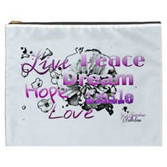 Live Peace Dream Hope Smile Love Cosmetic Bag (XXXL)
