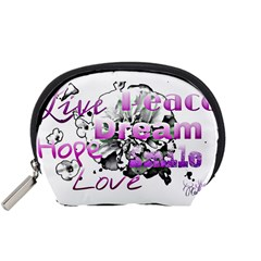 Live Peace Dream Hope Smile Love Accessories Pouch (small)