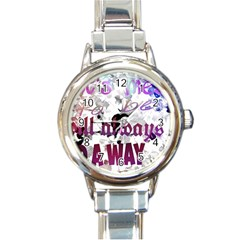 What s meant to be will always find a way Round Italian Charm Watch
