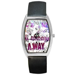 What s Meant To Be Will Always Find A Way Tonneau Leather Watch