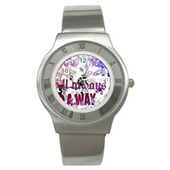 What s meant to be will always find a way Stainless Steel Watch (Slim)