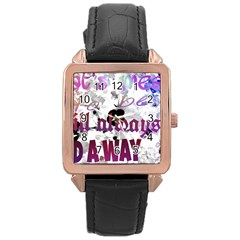 What s meant to be will always find a way Rose Gold Leather Watch