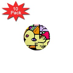 Fighting The Fog 1  Mini Button Magnet (10 pack)