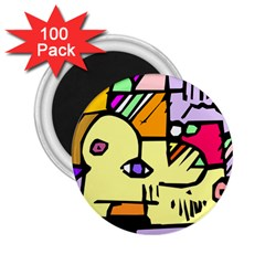 Fighting The Fog 2.25  Button Magnet (100 pack)