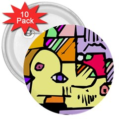 Fighting The Fog 3  Button (10 pack)