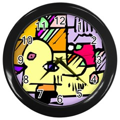 Fighting The Fog Wall Clock (Black)