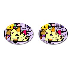 Fighting The Fog Cufflinks (Oval)
