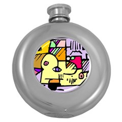 Fighting The Fog Hip Flask (Round)