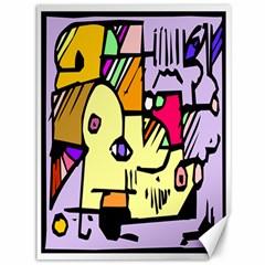 Fighting The Fog Canvas 36  x 48  (Unframed)
