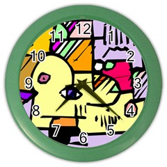 Fighting The Fog Wall Clock (Color)