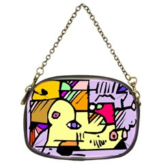 Fighting The Fog Chain Purse (two Sided)