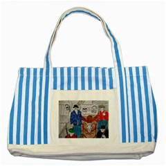 Murdered Big Foot Human,1910, Blue Striped Tote Bag