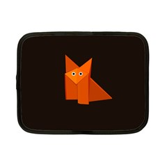 Dark Cute Origami Fox Netbook Sleeve (Small)